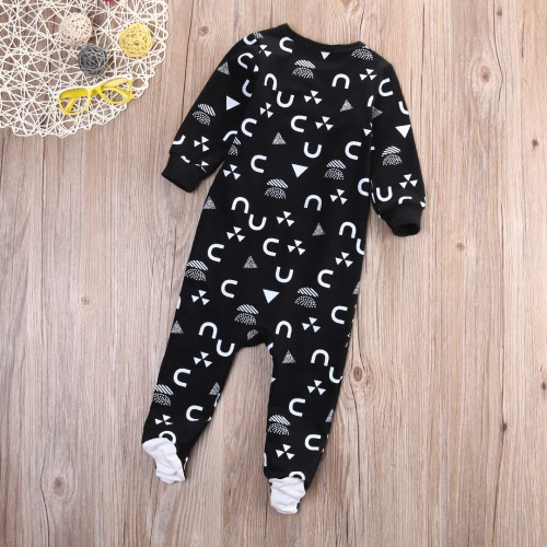 2017 Toddler New Born Kids Baby Boy Girl Infant Warm Bodysuits Jumpsuit Cotton Fancy Clothes Outfit