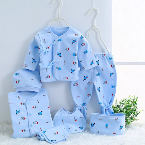 7pcs suit baby boys girls clothes newborn toddler outfits