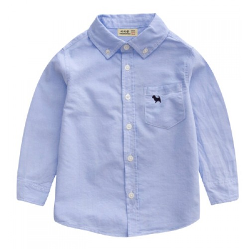 2017 spring children's clothes boys shirts solid long sleeve thin cotton baby boy shirt for boys kids causal shirts tops