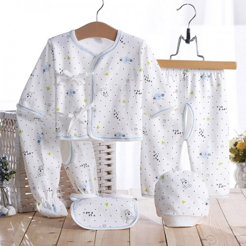5pcs/set Newborn Baby 0-3M Brand Boy Girl Warm Clothes Set