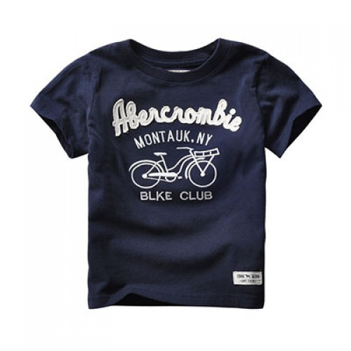 Actionclub Baby Boys Short Sleeve Cotton Shirt Kids Letter Bike Print