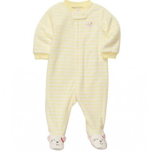 Baby Newborn Baby Long Sleeve Winter Footed romper