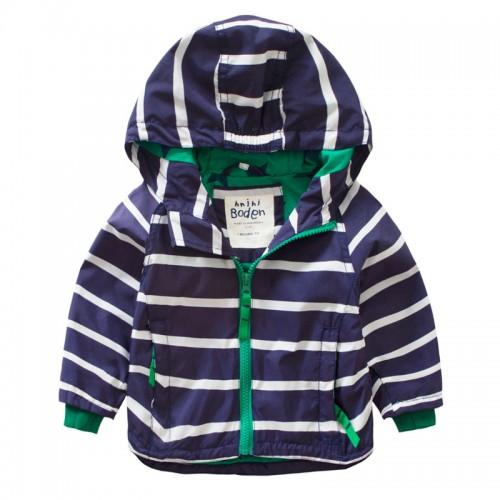 Baby boy child striped hooded jacket jacket 2016 autumn