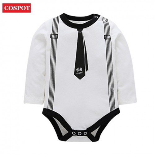 COSPOT Baby Boys Summer Romper Cute Long-sleeved Jumpsuit for Newborns Infant Cotton Rompers Boy Clothing 2017 New Arrival 25D