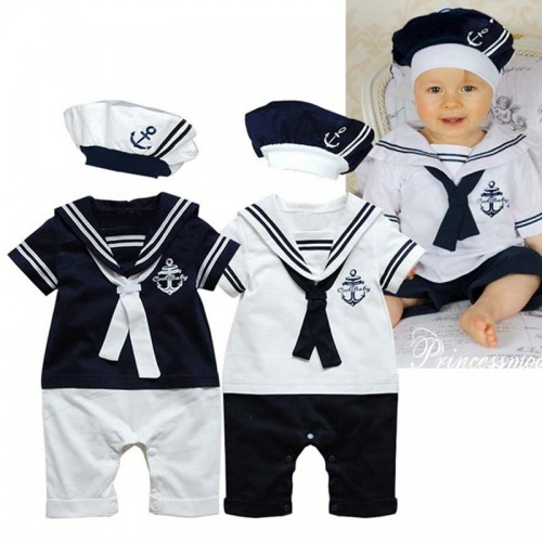 Cute Sailor Costume for Baby Boy Suit 2 Piece Kid Set