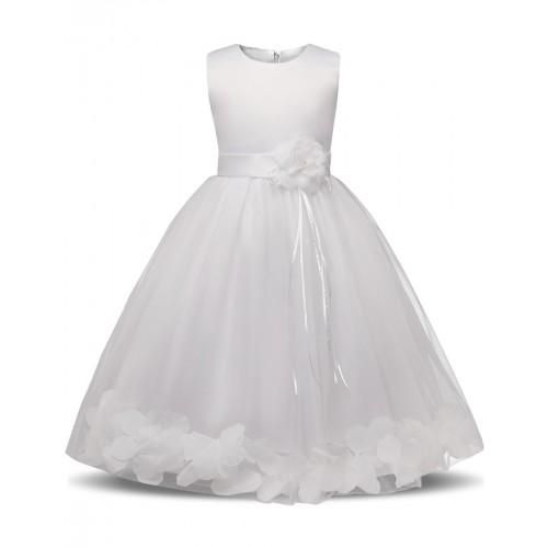 Fairy Petals Baby Girl Christening Wedding Gown Little Girl
