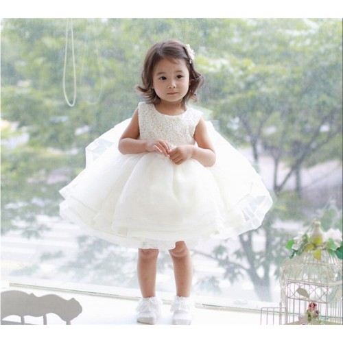 Flower Baby Girl Dress for Wedding Newborn Baby Baptism Dress Toddler Girl 1 Year Birthday Dress 3 6 12 24M Infant Party Vestido
