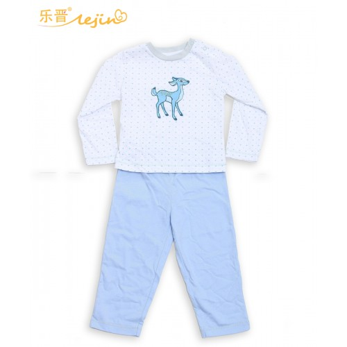 LeJIn Baby Girls Boys Clothing Set Casual Wear Baby Clothes Toddler Clothing Sleepwear in Spring Autumn in 100% Cotton Knitted