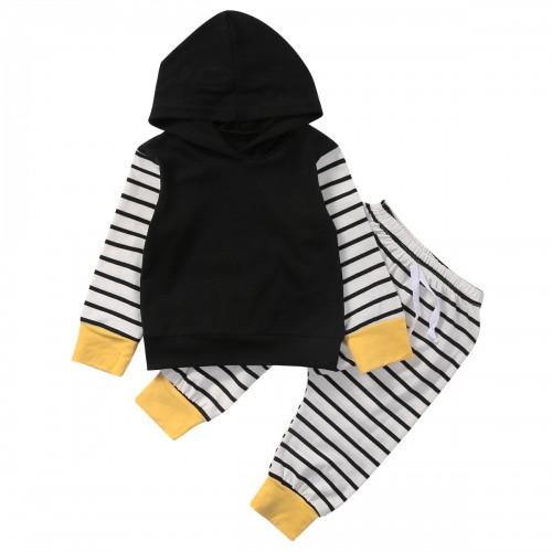 New Style Fashion Newborn Baby Kids Boys Girls Clothes Long Sleeve Tops T-shirt Hoodie Pants Children Clothing