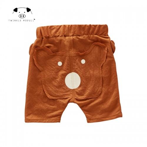 [Playful100] birthday Bear design baby summer pants
