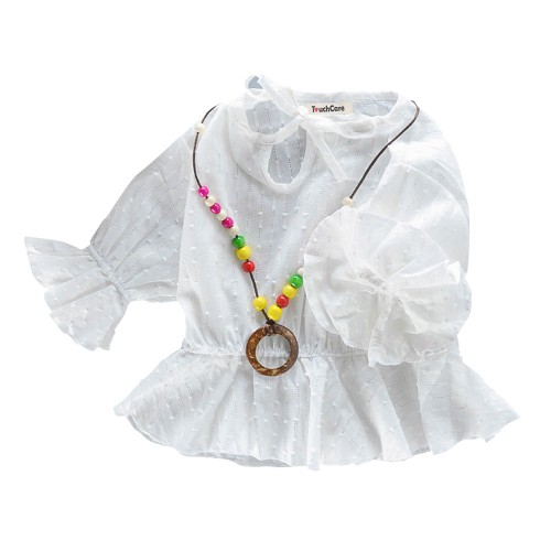 Floral Lotus Sleeve Baby Girl T-shirt Infant Bow-know Skirts