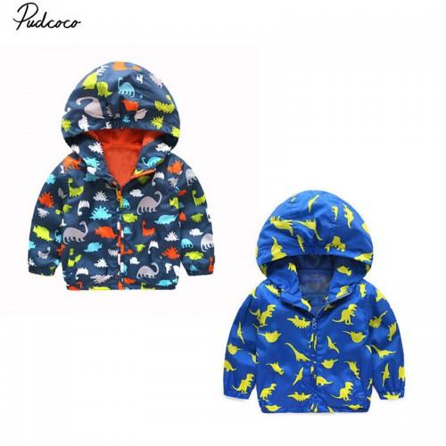 Hooded Jacket Children Waterproof Cartoon Animal Clothes