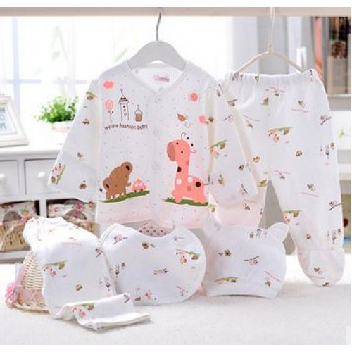 new 5pcs/set newborn Baby Clothing Set Brand Baby Boy Girl Clothes 100% Cotton Underwear infant clothing baby layette
