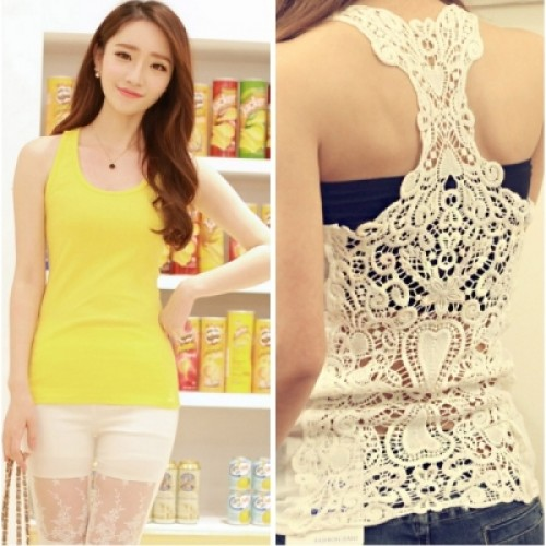 7 Color Optional Back Full Hollow Lace Hook Flower Candy Color