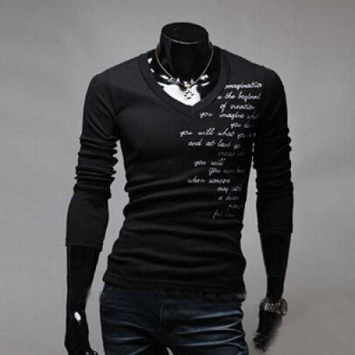 Stylish Letter Print Long Sleeve Sleeved Shirt For Men Boys