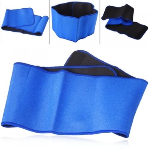 Waist Support Protector Velcro Strap Brace Waist Belt - Blue