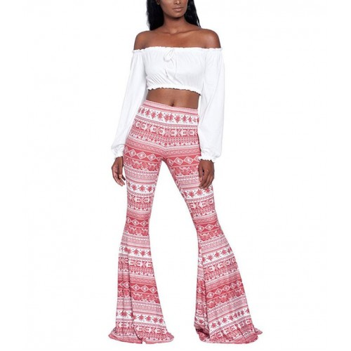 American Clothing Bohemian Tribal Vertical Aztec Wide leg Legging