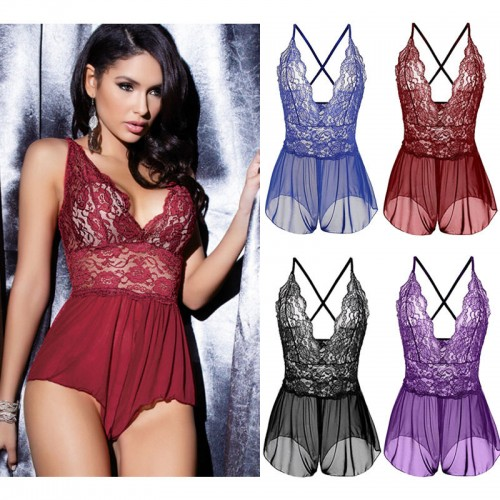 Lingerie Lace Dress Babydoll Women's Underwear Nightwear Sleepwear G-string Lingerie