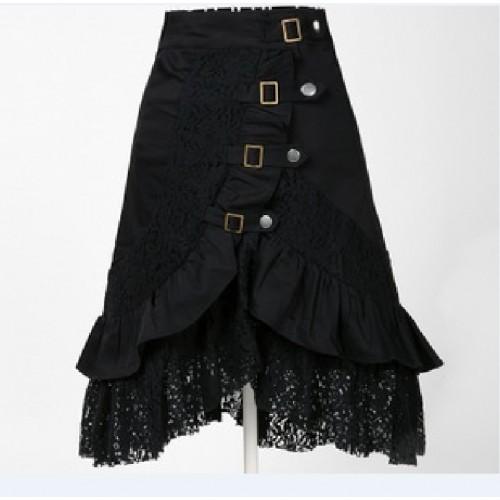 Gothic Style Black Lace Fashion Punk Tutu Lolita Black Skirts