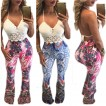 Floral Casual Long Skinny Pants Full Trousers Bohemian Style