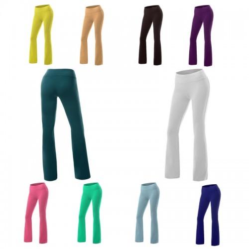 Yogaa Pants Long Modal Fitness Leggings Flare Pants Exercise XXL