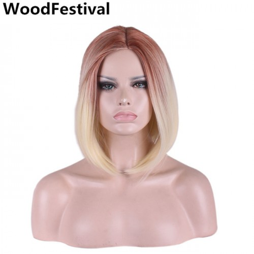 35cm wigs synthetic hair straight bob wig