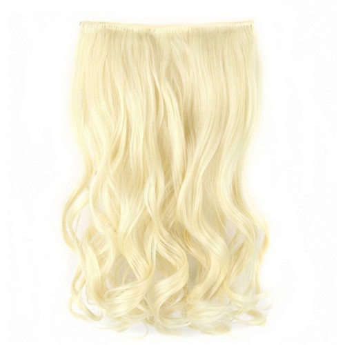 5 clips in hair extension pony tail blonde extensions
