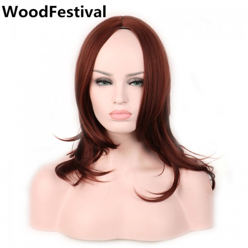 50 cm reddish brown wig heat resistant