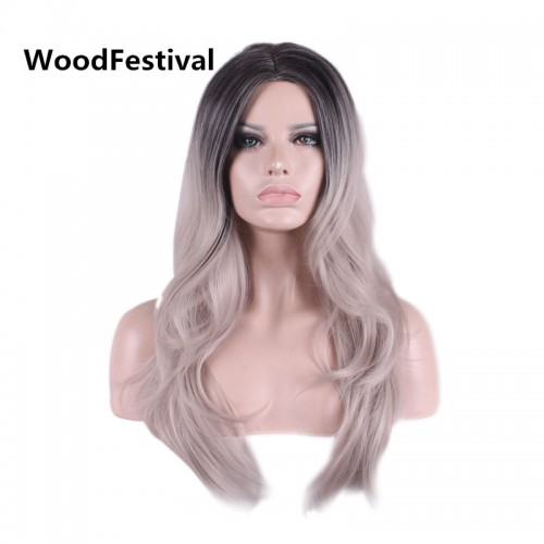 60cm wig long straight wig heat resistant