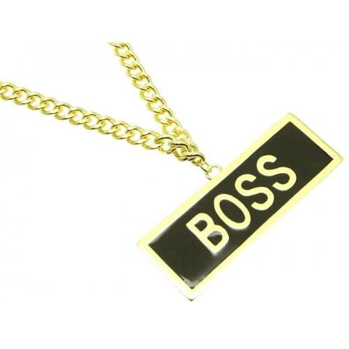 MESSAGE LINK NECKLACE  BOSS