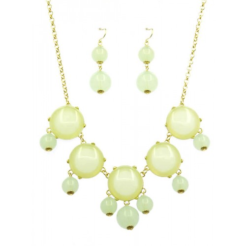 HOMAICA STONE BUBBLE NECKLACE AND EARRING SET