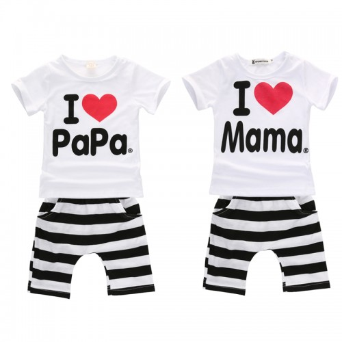 2017 summer newborn baby boy girl clothes