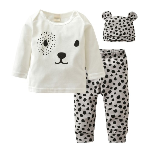 3 Pcs Autumn Fashion Style Newborn Baby Girl