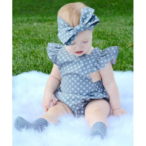 Fashion Jumpsuit Baby Girls Dot Rompers Girl