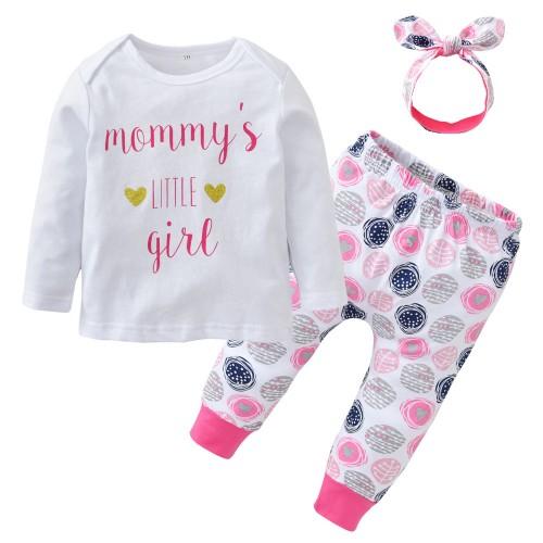 Newborn Letter Mommy's Baby Girls Clothing