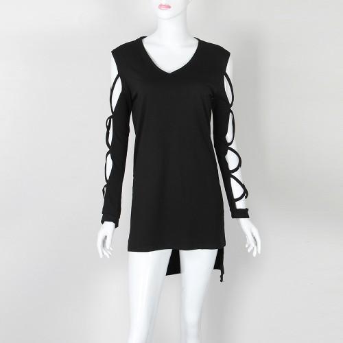 2016 Sexy V-Neck Long Sleeve Women Fashion