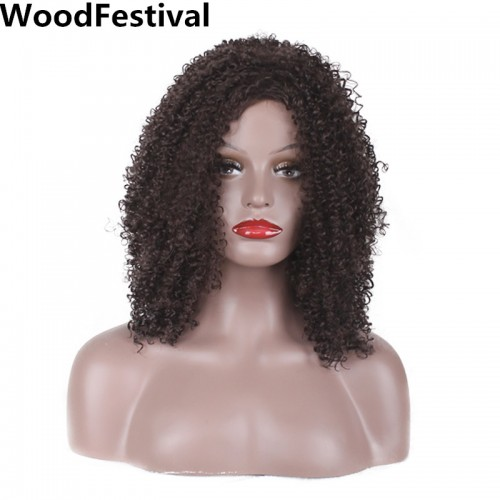 WoodFestival short curly wigs hair