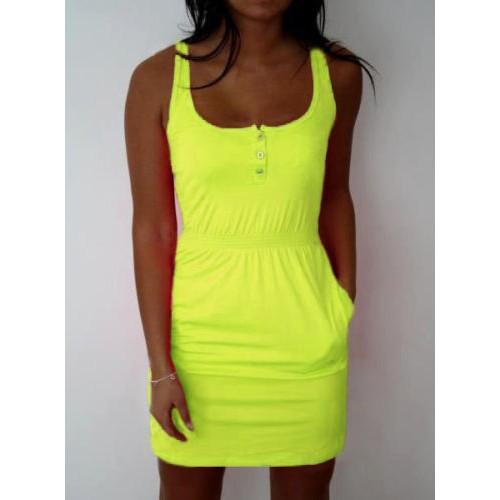 Women fashion Summer Sleeveless Dress Sexy Vest dress