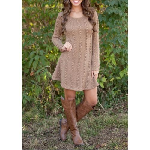 Sweater Dress Women Autumn Long Sleeve Loose