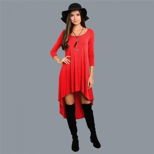Long Sleeve Dresses Vintage Irregular Dresses