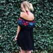 Neck Off Shoulder Ruffle Dress Short Sleeve Robe