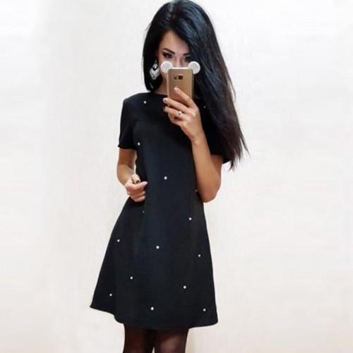 Short Sleeve Sheath Bodycon Mini Dresses