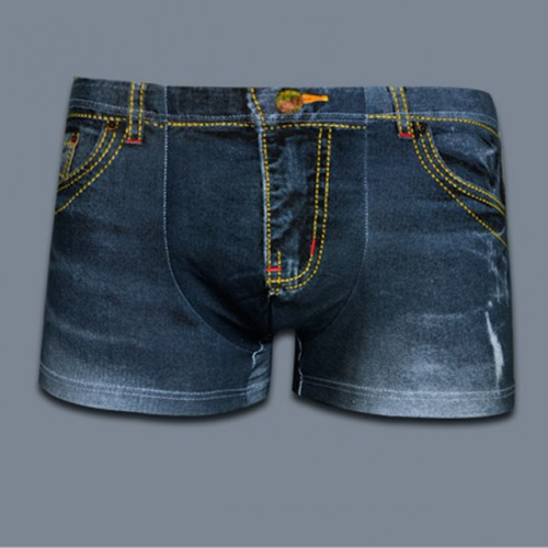 2017 New Fashion3D Print Jeans Hot Men's Boxer Shorts