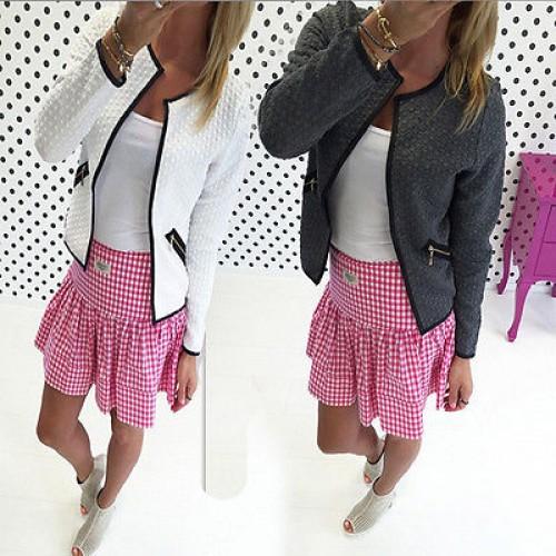 2016 Women Fashion Jacket Long Sleeve Outwear
