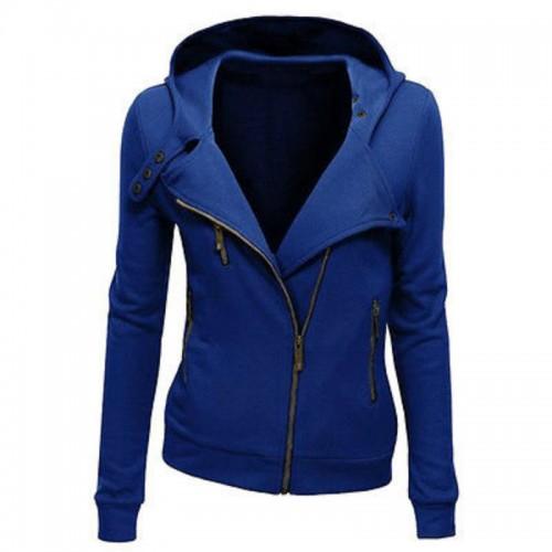 Fashion Women Hooded Jacket Long Sleeve