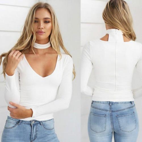 Ladies Long Sleeve Tight T-Shirts Slim