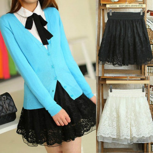 Ladies Lace Skirts Women Classic