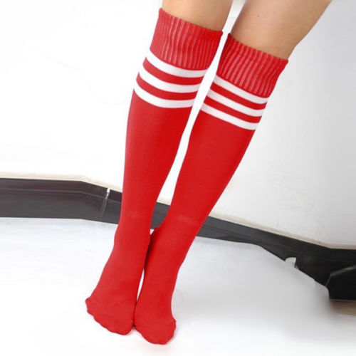 Lady Striped Knee High Socks