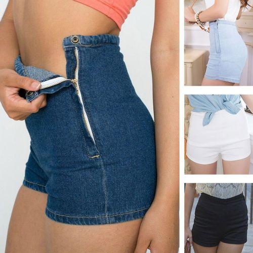 Summer Women Slim High Waist Jeans