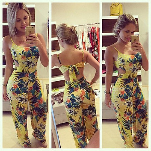 Yellow Women Jumpsuits Rompers